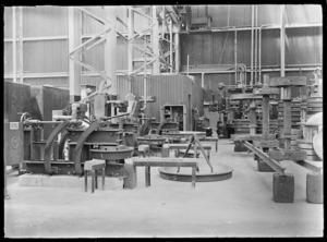 Tire (tyre) heaters at Hutt Railway Workshops, 1929.