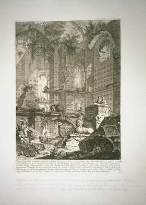 Piranesi, Giovanni Battista, 1720-1778 :Camera sepolcrale inventata e disegnata conforme al costume, e all'antica magnificenza degl'Imperatori Romani ... Piranesi f[ecit] [1743]