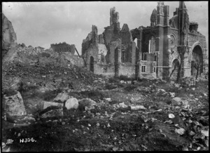 The ruins of Ypres Cathedral, Belgium