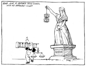 Tremain, Garrick, 1941- :News - Govt to replace Privy Council with NZ appointed court. [Otago Daily Times, 16 April 2002].