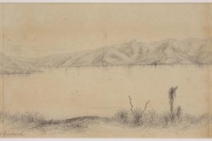 Norman, Edmund 1820-1875 :Akaroa Harbour, New Zealand [1855 or 1856?] [Part 3]