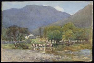Hanson, Albert J, 1866-1914 :The river at Picton. 1899