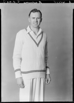 Geoffrey Rabone, captain of the New Zealand representative cricket team, 1953