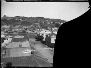 View of Wicksteed Place, Durietown, Wanganui, looking towards Wanganui East