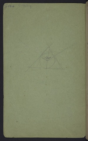 Hodgkins, Frances Mary, 1869-1947 :[Geometrical drawing. 1880s?]