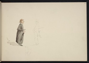 [Hodgkins, William Mathew] 1833-1898 :[A man and woman meeting in a street. 1893 or later]