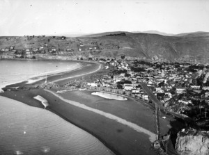Aerial view of Sumner, Christchurch