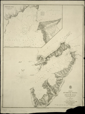 Current Basin and French Pass [cartographic material] / surveyed by B. Drury ... [et al.], 1854.