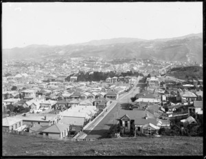 Part 2 of a 2 part panorama of Newtown, Wellington