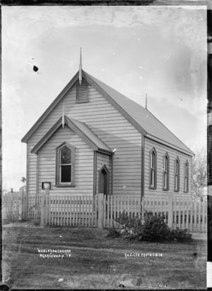 Wesleyan Church at Ngaruawahia, 1910 - Photograph taken by G & C Ltd
