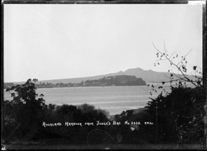 View of North Head and Rangitoto Island from Judges Bay