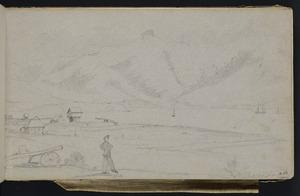 Mantell, Walter Baldock Durrant, 1820-1895 :Akaroa Xmas Day. [1848]