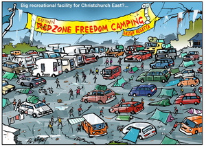 Nisbet, Alastair, 1958- :[Eastern recreational freedom camp out for Easter]. 6 April 2015
