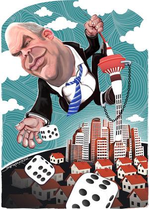 Parker, Richard, 1976- :Steven Joyce and casino gamble. 8 February 2015