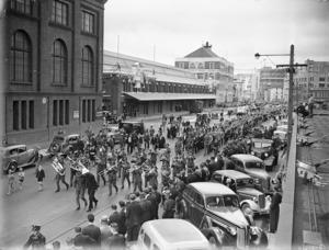 Parade along Waterloo Quay
