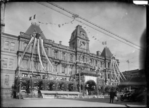 Government Buildings, Customs Street, Auckland, decorated for the 1919 peace celebrations