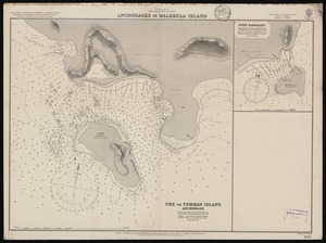 Anchorages in Malekula Island [cartographic material] / engraved by Edw. Weller.