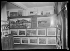 Framed photographs hanging at Whites Head Office, Dilworth building, Auckland