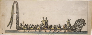 [Parkinson, Sydney] 1745-1771 :A war canoe of New Zealand / R. B. Godfrey, engraver. London, 1784
