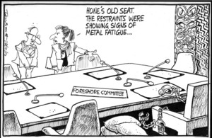 """""""Hone's old seat. The restraints were showing signs of metal fatigue..."""" 28 October 2010"""