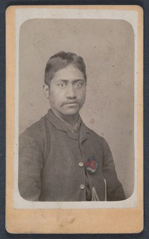 Photographer unknown :Portrait of unidentified Maori man
