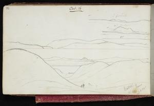 Mantell, Walter Baldock Durrant, 1820-1895 :[Hills near Waitaki] 3 points. Mt Elephant Thurs, Oct 26. [1848]