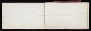 Mantell, Walter Baldock Durrant, 1820-1895 :From Taumutu [Sept. 25. 1848?]; Hills from Taumutu? Sept. 25. 1848?]