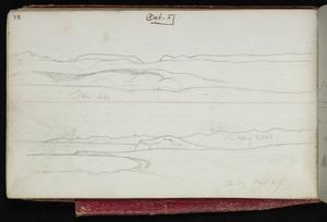 Mantell, Walter Baldock Durrant, 1820-1895 :Grass hills. Bluff. Frid. Oct 27 [1848]