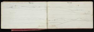 Mantell, Walter Baldock Durrant, 1820-1895 :[Kakaunui river mouth and Oamaru. Oct 27 1848]