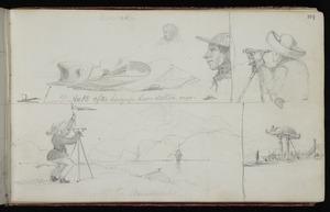 Mantell, Walter Baldock Durrant, 1820-1895 :Moeraki. Ye hatte after havynge beene satten onne. Cruelty to animals. [October 1848]