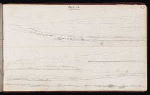 Mantell, Walter Baldock Durrant, 1820-1895 :[Bay or lake shore] Oct 22 [1848]; [Looking across plain to hills?] Oct 22 [1848] Waihou