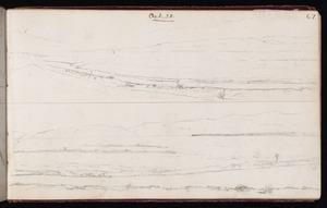 Mantell, Walter Baldock Durrant, 1820-1895 :[Bay or lake shore] Oct 22 [1848]; [Looking across plain to hills?] Oct 22 [1848] Waihou