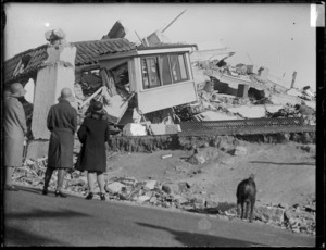 Ruins of the nurses' home, Napier, after the 1931 Hawke's Bay Earthquake
