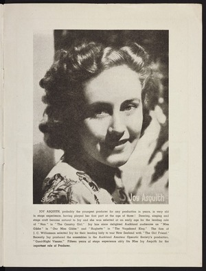 Steele Photography Ltd. :Joy Asquith. ... probably the youngest producer for any production in years ... [1948]