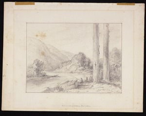 Swainson, William, 1789-1855 :Entrance to the second valley. Taine's section