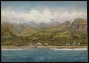 Artist unknown: Avuna, Rarotonga (Cook's group), from deck of Avalon. [ca 1890]