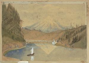Fox, William (Rt Hon Sir), 1812?-1893 :Mt Egmont from the Recreation Ground, N Plyth. 1884