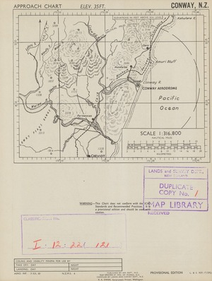 Conway, N.Z. / drawn by Min. of Works, N.Z., compiled by Lands and Survey Dept., N.Z.