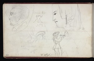 Mantell, Walter Baldock Durrant, 1820-1895 :[Miscellaneous heads and figure surveying. 1848?]
