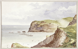 [Hodgkins, William Mathew] 1833-1898 :The South Head, Akaroa [1868?]