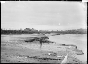 Kopua Village at the mouth of the Wainui Stream, 1910 - Photograph taken by Gilmour Brothers