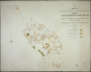Map of the native lands of New Zealand, shewing their occupation, tenure and use ... [cartographic material].