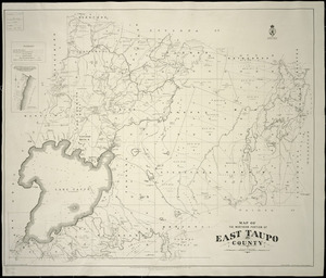 Map of the northern portion of East Taupo County [cartographic material] / drawn by W. Deverell, August 1891 ; Gerhard Mueller, Chief Surveyor, Auckland district ; A. Barron, superintending surveyor.