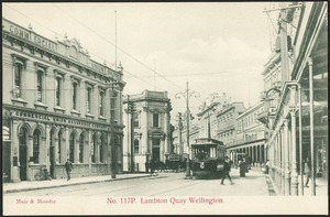 Lambton Quay, Wellington - Photograph taken by Muir and Moodie