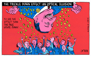 The Trickle Down Effect: An Optical Illusion