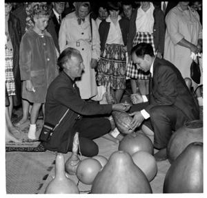 First Ngaruawahia Festival of Arts, December 1963, inside Mahinarangi