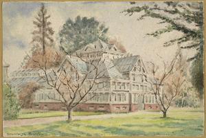 Barton, Cranleigh Harper, 1890-1975 :Townend Glass House, Christchurch Botanical Gardens [ca 1919] Demolished 1955