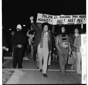 """Stop the Tour 1976"" protest in Wellington"