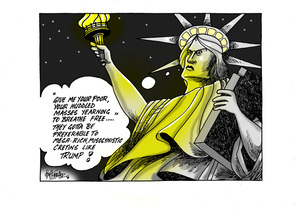 """""""Give me your poor, your huddled masses yearning to breathe free"""""""