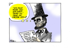 Abraham Lincoln comments on Donald Trump